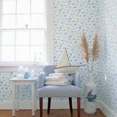 "Thibaut | Seaside ""Something Fishy"" Wallpaper 