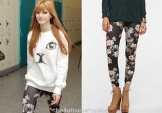 Bella Thorne wore these  Urban Outfitters BDG Painted Rose High-Rise Leggings to the premier of The Host at ArcLight Cinemas Cinerama Dome in Hollywood on March 19th, 2013