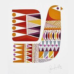 38 ideas folk bird illustration print patterns for 2019 Bird Illustration, Illustrations, Arte Tribal, Scandinavian Folk Art, Fabric Painting, Bird Art, Stencil, Print Patterns, Screen Printing