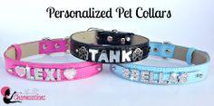 Bling pet collars <3 https://www.thequeenofsparkles.com/
