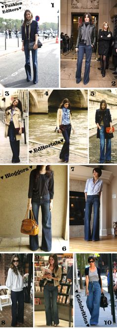 How to wear wide leg jeans + streetstyle inspiration