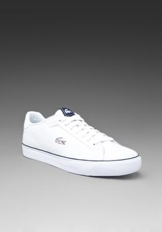 d47d57231f4c4 LACOSTE Marling Low in White Dark Blue  49 Penny Loafers
