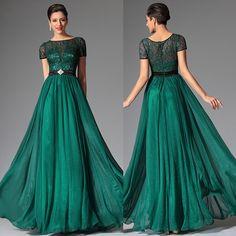 Rochii Elegante lunga verde dantela