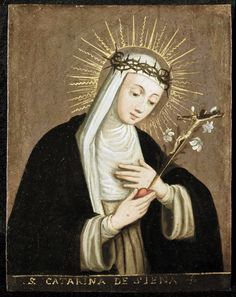 29 april: H. Catharina van Siena (1347-1380), mystica, kerklerares en co-patroon van Europa wegens haar inspanningen voor eenheid van de Kerk. Siena, Princess Zelda, Google, Fictional Characters, Art, Painters, Women, Saints, Art Background