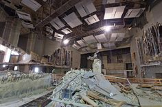 Piles of rubble inside the Mechanic Theatre....   what a wonderful place it was back in the day!