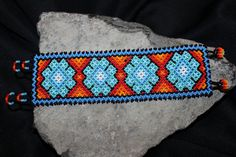 Huichol Peyote Beaded  Bracelet by HuicholArte on Etsy, #beadwork