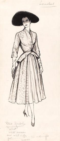 Google search - fashion illustration 1950s
