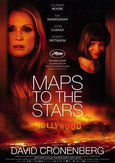 """MAP TO THE STARS von David Cronenberg. Lauter durchgeknallte, selbstverliebte, gefühlsamputierte Menschen aus Hollywood in Cronenbergs Abrechnung mit der """"Traumfabrik"""". Lediglich mit der von  Mia Wasikowska dargestellten Agatha kann man mitfühlen, obgleich sie einen Mord begeht und auch sonst nur auf Rache sinnt. Da habe ich bessere Filme von Cronenberg gesehen."""