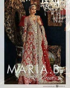 Pakistani Bridal Dresses Maria B Latest Collection 2017 Bridal Dresses 2018, Fancy Wedding Dresses, Western Wedding Dresses, Designer Wedding Gowns, Bridal Gowns, Wedding Wear, Bridal Designers, Wedding Hijab, Wedding Bride