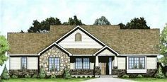 This inviting small house plan with a ranch style structure has over 1300 sq ft of living space. The one story floor plan includes 2 bedrooms.