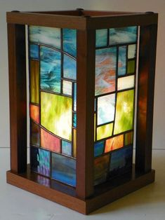 Puget Patches - Delphi Stained Glass from listing by Studio Lines #StainedGlassLamps