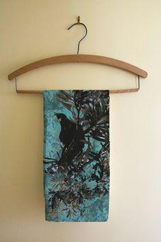 New Zealand Tui bird kitchen tea towel bird by NewCreatioNZ