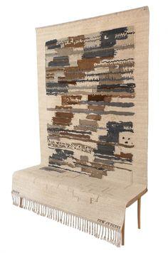 Ovradet carpet/bench - Front