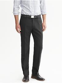 Tailored Slim-Fit Charcoal Wool Dress Pant   USE REWARD CREDITS