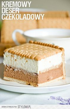 Mus czekoladowo - śmietankowy na herbatnikach