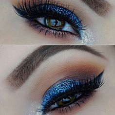 playing with her new for this pretty ❤ We love the blue and soft subtle blending. Looking forward to seeing lots more from you 💕 Beauty Brushes, Mikasa, Our Love, Eye Makeup, Glitter, Eyes, Pretty, Blue, Instagram