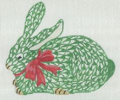 New Kate Dickerson Christmas fishnet bunny ornaments
