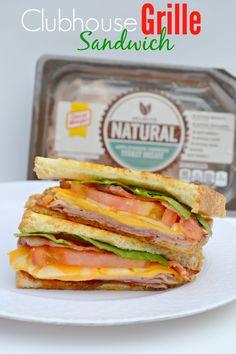 Clubhouse Grille Sandwich Recipe  #OscarMayerNatural #ad @OscarMayer