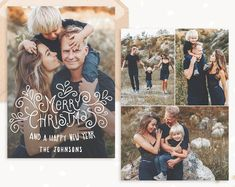 Premium Photoshop templates for photographers by StudioStrawberry Christmas Card Template, Christmas Cards, Family Holiday, Card Templates, Party Invitations, Photographers, Trending Outfits, Merry, Photoshop