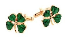 Shamrock Gold Plated cufflinks