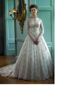This is a vintage wedding dress design based on Grace Kelly's gown.