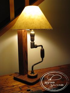 Carpenter's Brace Lamp.  Another re-imagined salvage project from Signature ReFind Salvage.