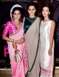 Kirti Kulhari, Taapsee Pannu and Andrea Tariang at 'Pink' bash. #Bollywood #Fashion #Style #Beauty #Hot #Sexy