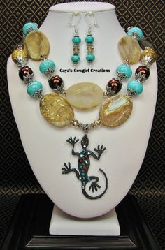 WESTERN NECKLACE / COWGIRL Chunky by CayaCowgirlCreations on Etsy