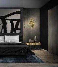 Top-20-Winter-Bedroom-Color-Schemes. Nightstand by @bocadolobo. For more news: www.bocadolobo.com/blog