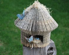 Book Birdhouse by thoughtfulimagesink on Etsy, $24.00