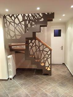 escalier optimisé pour les petites trémies #escalier #iledefrance #habitation #renovation #maison Bedroom Small, Design Bedroom, Oeuvre D'art, Stairs, House Design, Interior Design, Decoration, Home Decor, House Staircase