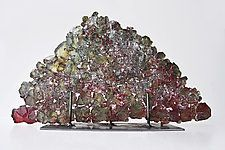 "Dreamscape 38 by Mira Woodworth (Art Glass Sculpture) (12"" x 19"")"