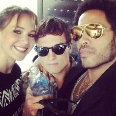 Jen with Josh and Lenny Kravitz at Comic Con!!!