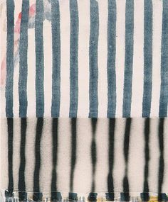 Terri Brooks Black and White Stripes, 2006. Oil, enamel and pencil on canvas, 61x51 cm.