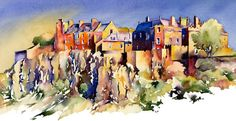 STIRLING CASTLE BY JONATHAN WHEELER. ORIGINAL UNMOUNTED, UNFRAMED WATERCOLOUR. BUY IT HERE: http://www.artbreak.com/work/show/715242-stirling-castle-by-jonathan-wheeler-gallerysales
