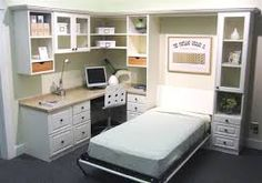 queen size murphy bed with desk - Google Search