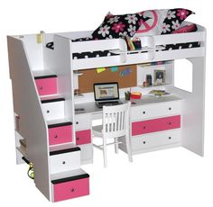 Berg Furniture USA   Utica Dorm Loft by Berg Furniture   The Utica Dorm Loft creates a minimal footprint, and provides children and parents with lots of options in customizing their ideal bedroom. The 'Build-a-Bed' system begins with a basic loft and Berg's Signature Staircase. Teens and young adults will have room to spread out with the optional desk station. Come see Berg's showroom at C&D 8H #HPmkt
