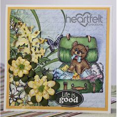 Heartfelt Creations - Pooch And Yellow Daisies Project