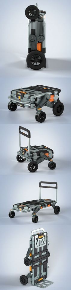 EROVR is the uber-versatile folding cart-wagon system that's capable of transforming into a mover's dolly, handcart, flat cart, hand truck or kid's wagon. It starts out Gadgets And Gizmos, Technology Gadgets, Tech Gadgets, Cool Gadgets, New Technology, Folding Cart, Kids Wagon, 3d Prints, Cool Inventions