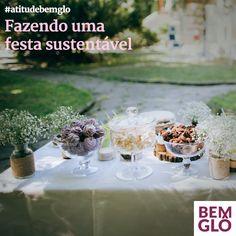 Vai fazer uma festa? Que tal preparar um evento bem lindo, barato e sustentável? Vem anotar nossas dicas tudo de Bemglô! ;)