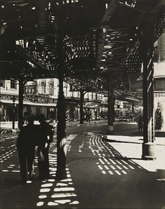 """""""El"""" Second and Third Avenue Lines; Bowery and Division Street, Manhattan by…"""