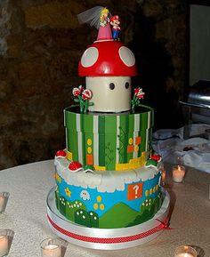 Mario Brothers Cake.  LOVE IT. <3