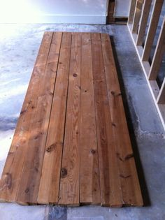 Reclaimed Joists for Dinning Table
