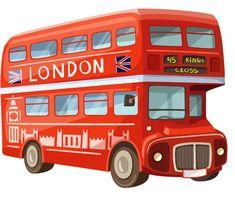 Double decker bus PNG and Clipart Bus Cartoon, Cartoon Pics, London Bus, Bus Drawing, London Drawing, British Party, Art Transportation, London Illustration, Bus Art