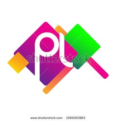 Letter PL logo with colorful geometric shape, letter combination logo design for creative industry, web, business and company. Web Business, Initials Logo, Creative Industries, Geometric Shapes, Royalty Free Stock Photos, Logo Design, Symbols, Letters, Colorful