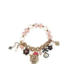 Skull Stretch Bracelet: Betsey Johnson