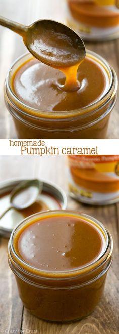 Easy Homemade Pumpkin Caramel Sauce Recipe - caramel infused with pumpkin puree for fall!