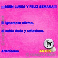 Aries Lunes 11 de Abril, 2016  ARIES Buen lunes y feliz semana, #FelizLunes día de dar la espalda al entorno, y desear estar solo, tu austeridad económica, te obligara hacer elecciones aunque no sean de tu agrado.