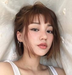 Just in case you haven't seen a Ginger Asian girl with freckles. asian girls Just in case you haven't seen a Ginger Asian girl with freckles. Ginger Asian, Color Rubio, Freckles Girl, Asian Freckles, Women With Freckles, Ginger Hair, Bob Hairstyles, Bob Haircuts, Trendy Hairstyles