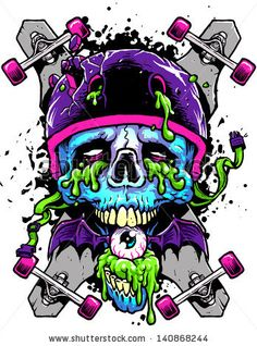 Find Long Boards Skull stock images in HD and millions of other royalty-free stock photos, illustrations and vectors in the Shutterstock collection. Graffiti Art, Samurai Artwork, Denim Art, Skull And Bones, Skull Art, Dark Art, Line Art, Vector Art, Art Drawings